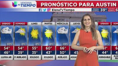 Se esperan lluvias para la noche de viernes y sábado por la mañana