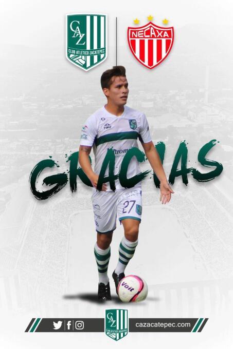 Rubén González deja el Atlético Zacatepec para incorporarse al Necaxa.