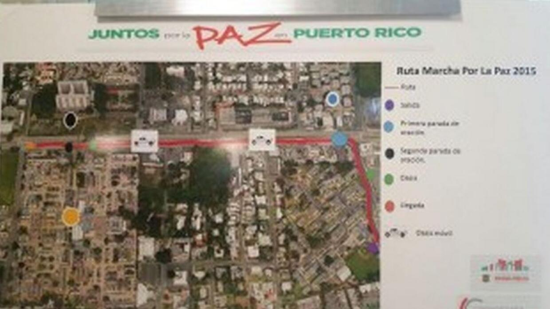 Marcha Juntos por la paz en Puerto Rico