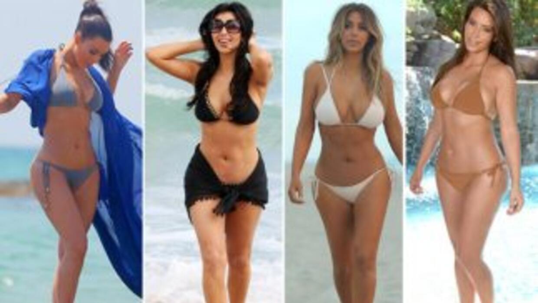 ¡Los bikinazos de Kim Kardashian!