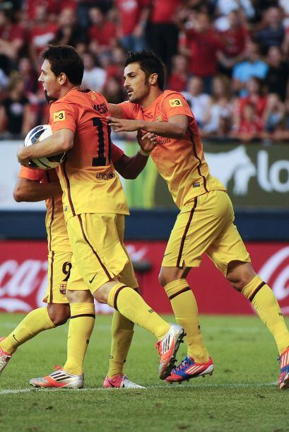Tras una serie de rebotes, Messi mandó la pelota al fondo de las...
