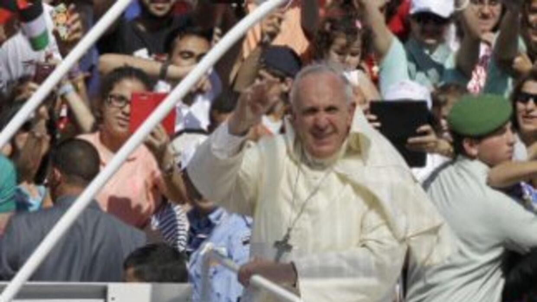 El papa Francisco en su histórica visita a Oriente Medio.