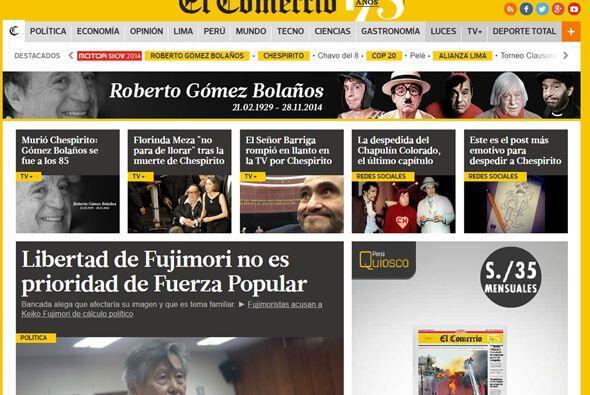 El portal peruano El Comercio también le dedicó un espacio importante en...