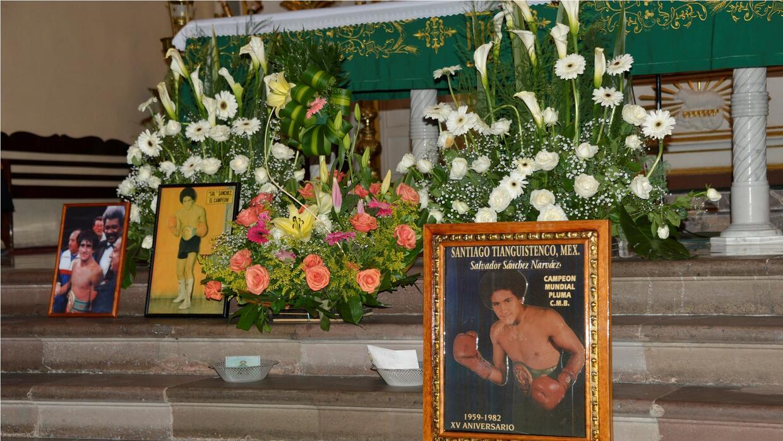 Aniversario luctuoso de Salvador Sánchez (Foto: Alma Montiel).