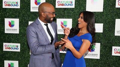 Francisca Lachapel y Brea Frank en el Upfront de Univision