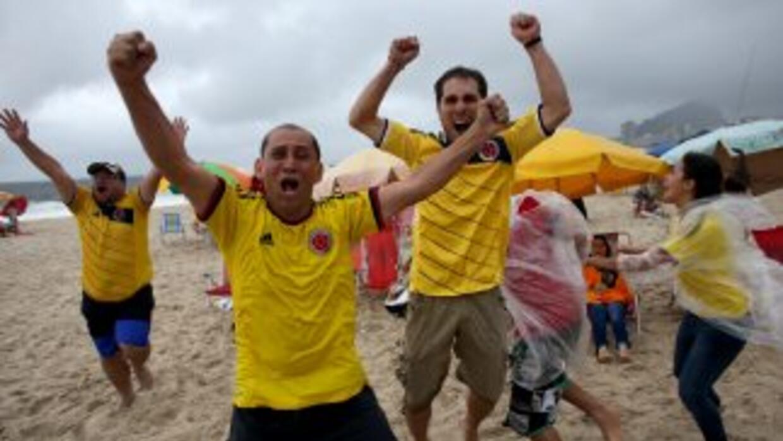 Fans colombia y uruguay