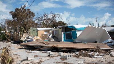 Fotos: El huracán Irma tumbó casas móviles como si fueran de juguete