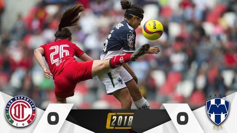 Toluca y Monterrey femenil no se hicieron daño.