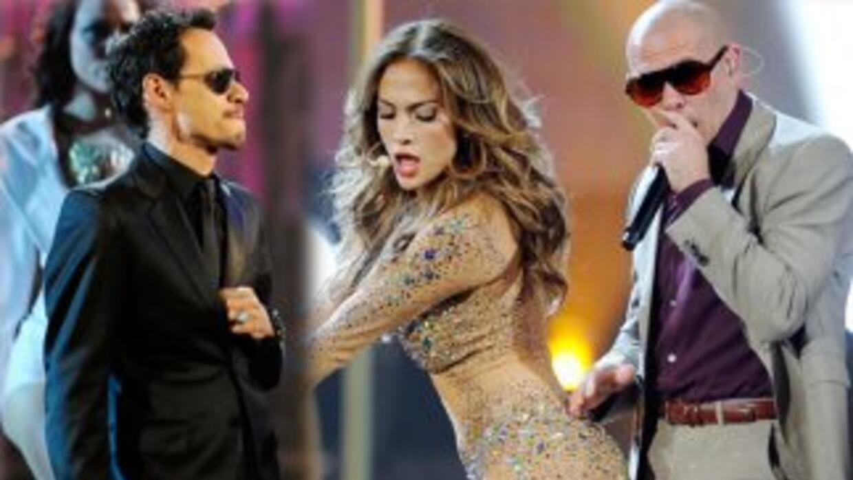 Marc Anthony, Jennifer Lopez y Pitbull deslumbraron en los American Musi...