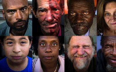 Los rostros de la indigencia. En California se estima una poblaci&oacute...