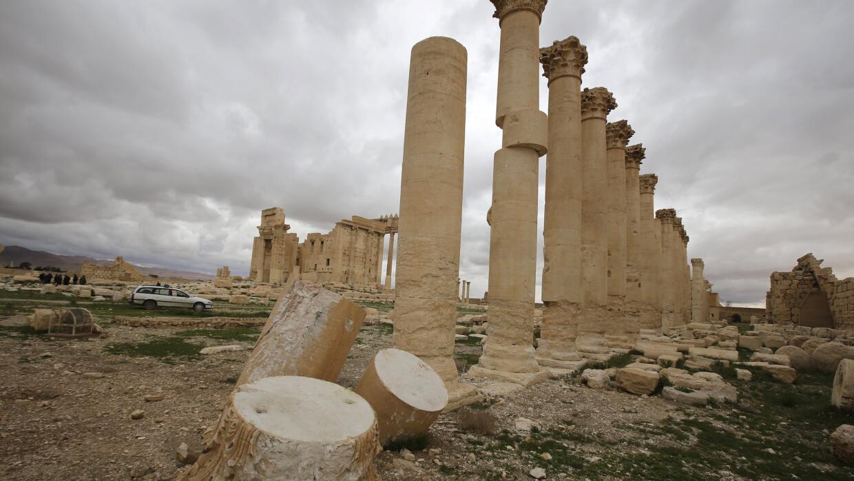 Columnas históricas de las ruinas de Palmira