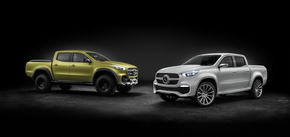 Las dos versiones del Clase X serán lanzadas en 2017. Mercedes-Benz prep...