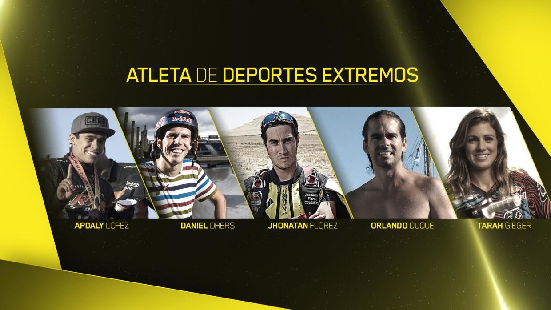 Los nominados para el mejor Atleta de Deportes Extremos de Año