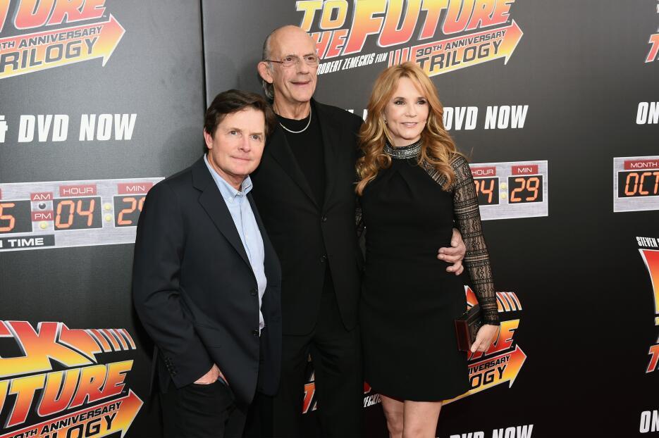 Michael J Fox y el elenco de Back to the Future