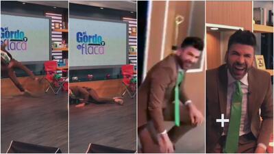(En video) El resbalón de su vida: Jomari Goyso terminó en el piso cuando quiso pasarse de bromista