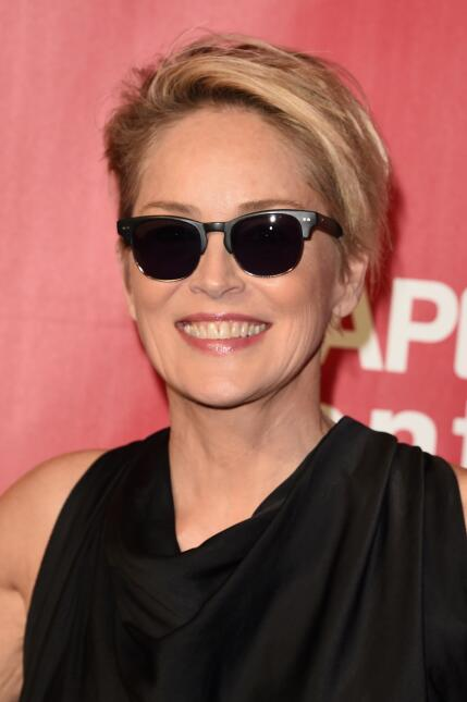 Actress Sharon Stone attends the 2016 MusiCares Person of the Year honor...