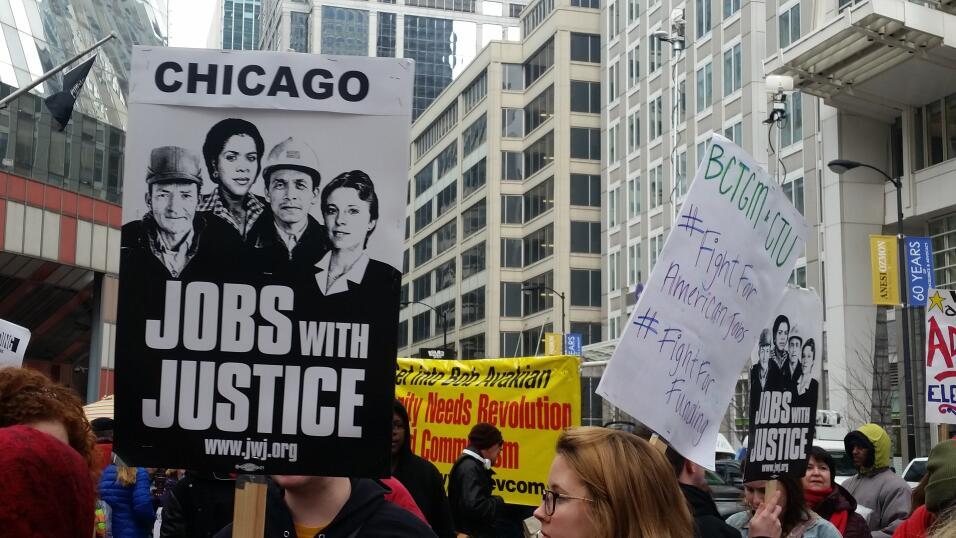 Imágenes del paro laboral de Chicago