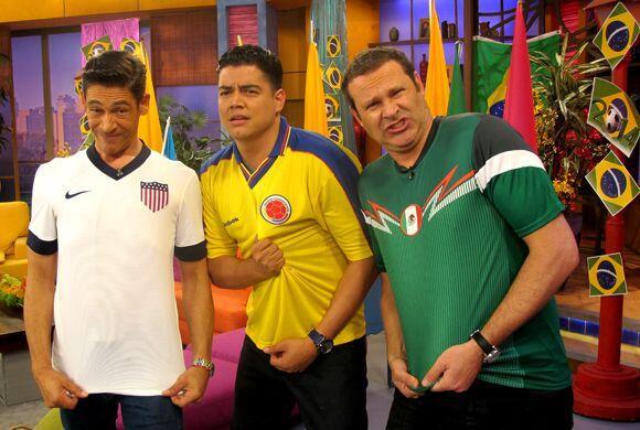 Orlando Segura se unió a la fiebre futbolera apoyando a su equipo, Colom...