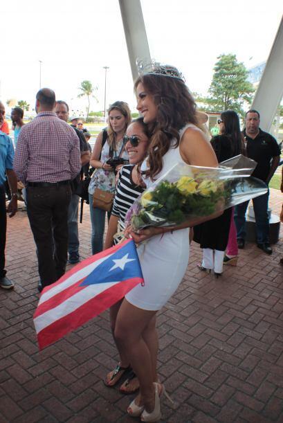 La octava reina de Nuestra Belleza Latina regresó a su hogar: Puerto Rico.