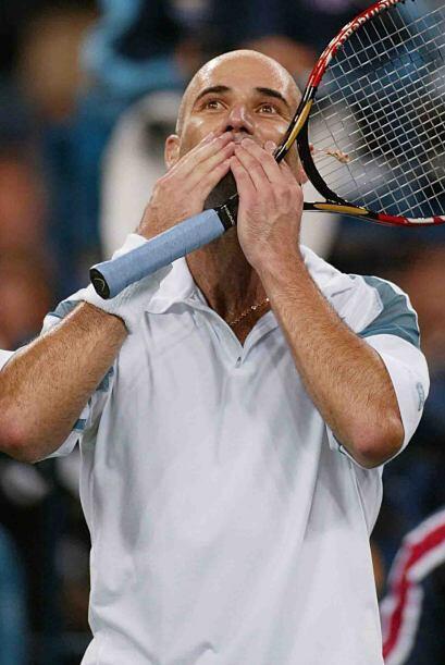 Andre Agassi, ex número 1 del mundo y ganador de ocho títulos de Grand S...