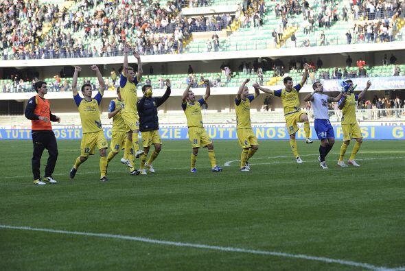 La Juve no pudo hacer gol para el empate final 0-0 y Chievo lo festejó c...