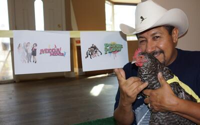 La gallina vidente de 'El Feo' predice el ganador de Pequeños Gigantes