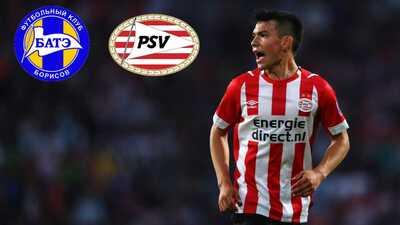 Las banderas del BATE Borisov y el PSV finalmente se encuentran