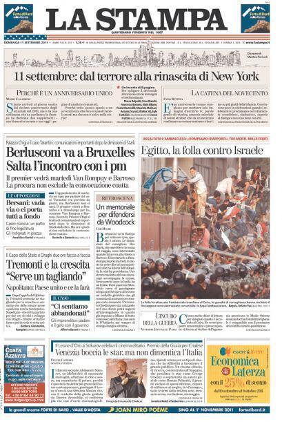 Cortesía del diario La Stampa, de Torino, Italia, vía Newseum.