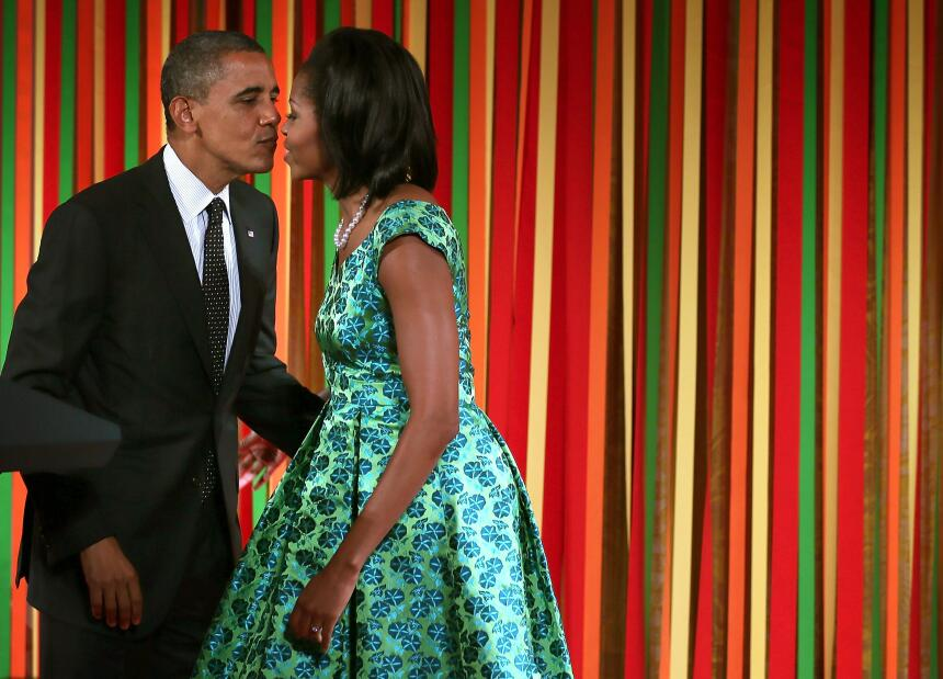 Michelle y Barack Obama: los amantes de la Casa Blanca GettyImages-15053...