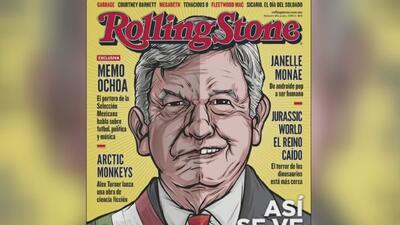 Andrés Manuel López Obrador aparece como un 'rockstar' político en la portada de la revista Rolling Stone