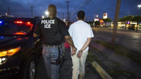 Un arresto de ICE.