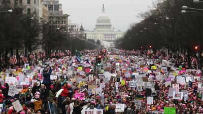 La Marcha de las Mujeres en Washington DC, el 21 de enero, 2017.