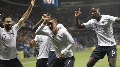 En fotos: Francia impone jerarquía con un 3-1 contra Italia en amistoso premundialista