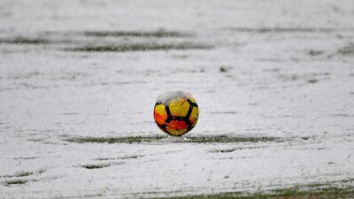 Impactante: intensa nevada obligó a posponer el Juventus-Atalanta en la Serie A