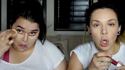 Jacqie Rivera y su hermana Jenicka se enfrentan en un reto de maquillaje (¿quién ganará?)