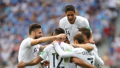 En fotos: Francia es semifinalista tras vencer 2-0 a Uruguay en cuartos de final