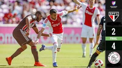 Un contundente Ajax dejó al Sao Paulo en el último sitio de la Florida Cup