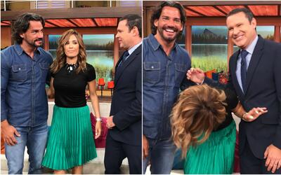 Cristián de la Fuente, Karla Martínez y Alan Tacher
