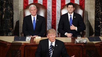 Primer discurso de Donald Trump ante el Congreso.