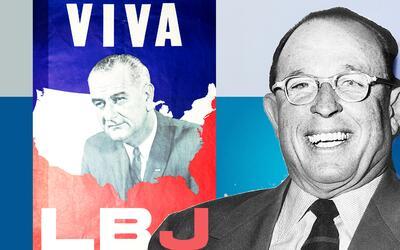El expresidente Lindon B. Johnson debe buena parte del éxito de s...