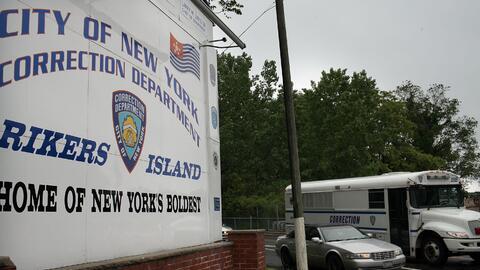 La entrada a la prision de Rikers Island, en Nueva York.
