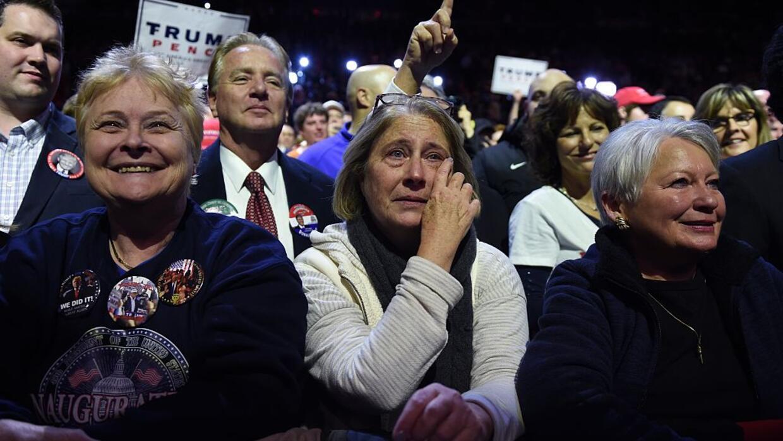 Simpatizantes de Trump en el US Bank Arena de Cincinnati, Ohio