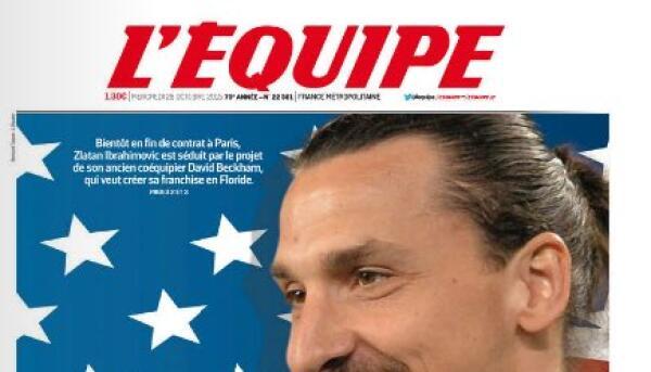 La portada de hoy de L'Equipe.