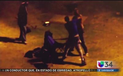Violenta paliza con una patineta en Los Ángeles
