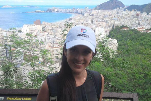 Con esta espectacular vista de Copacabana se despidió de Río, para segui...