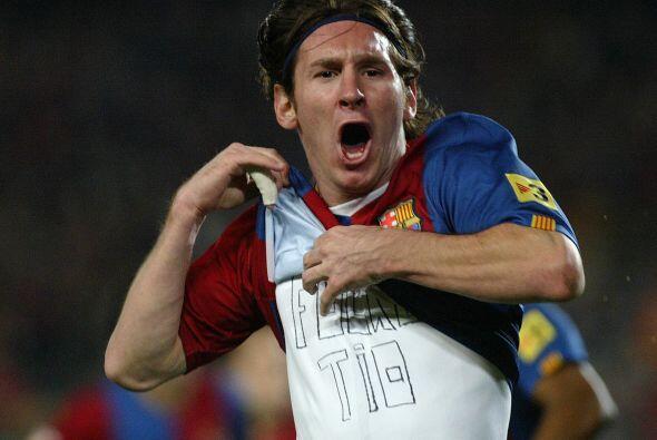 Pero no pasemos de largo la irrupción del argentino Lionel Messi, quien...