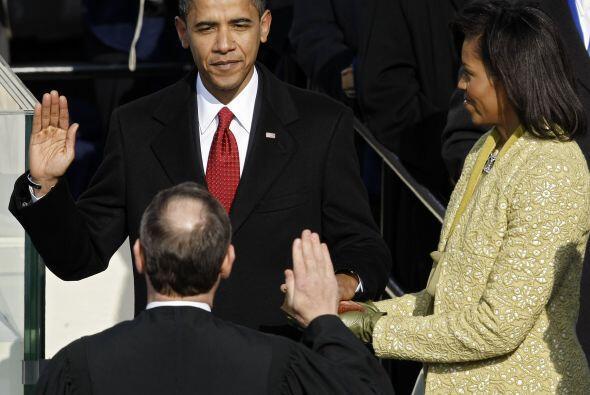 En una helada mañana de enero del año siguiente, Obama se...