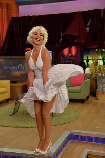 El parecido entre Marilyn y Ximena es enorme. Ximena es buena imitadora.