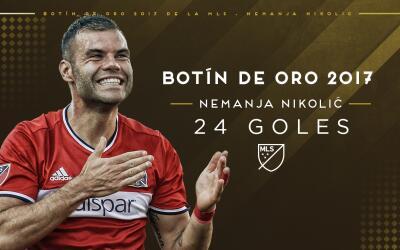 Nemanja Nikolic ganó el Botín de Oro de la MLS 2017
