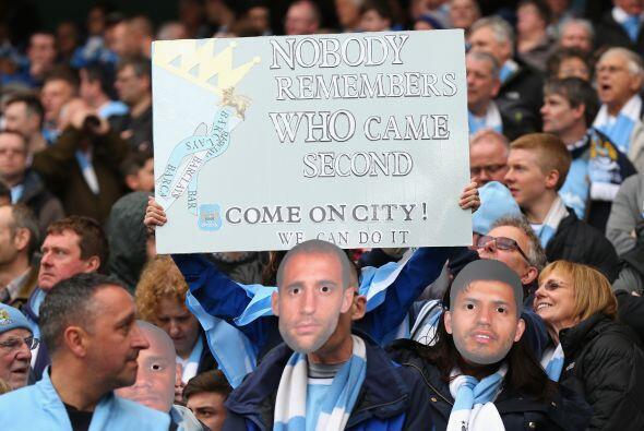 Los 'Citizens' casi se sentían campeones, sabiendo que tenían la ventaja...